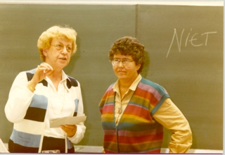 1982-college Mary Daly in Nijmegen-foto Marian Papavoine